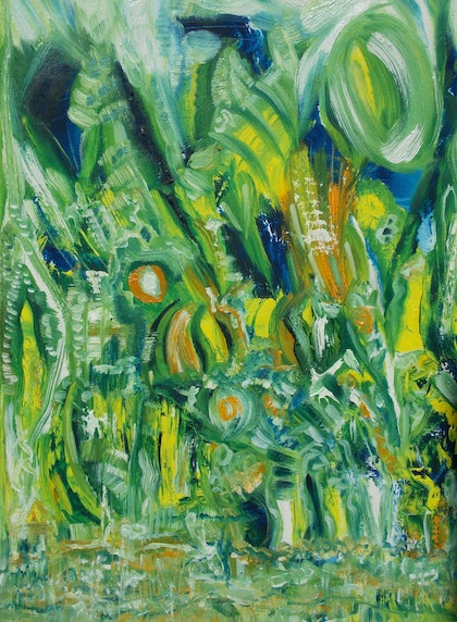 (CreativeWork) untitled by Karen Moss. oil-painting. Shop online at Bluethumb.