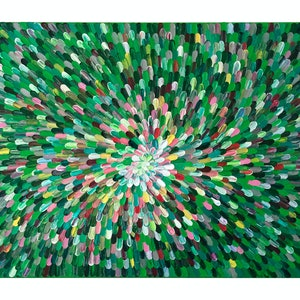 """(CreativeWork) """"SEVEN-COLOURED FLOWER"""". by Alorna & Co. arcylic-painting. Shop online at Bluethumb."""