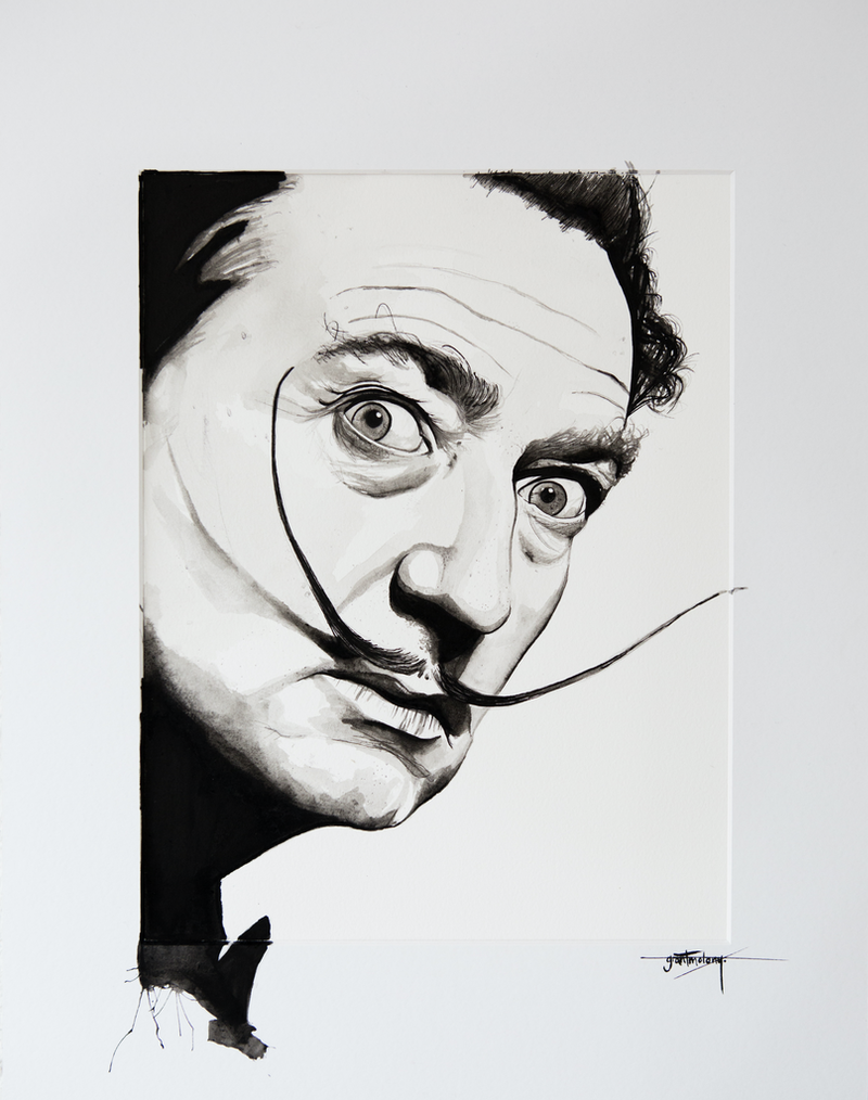 (CreativeWork) Dali by Grant Molony. mixed-media. Shop online at Bluethumb.