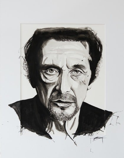 (CreativeWork) Pacino by Grant Molony. mixed-media. Shop online at Bluethumb.