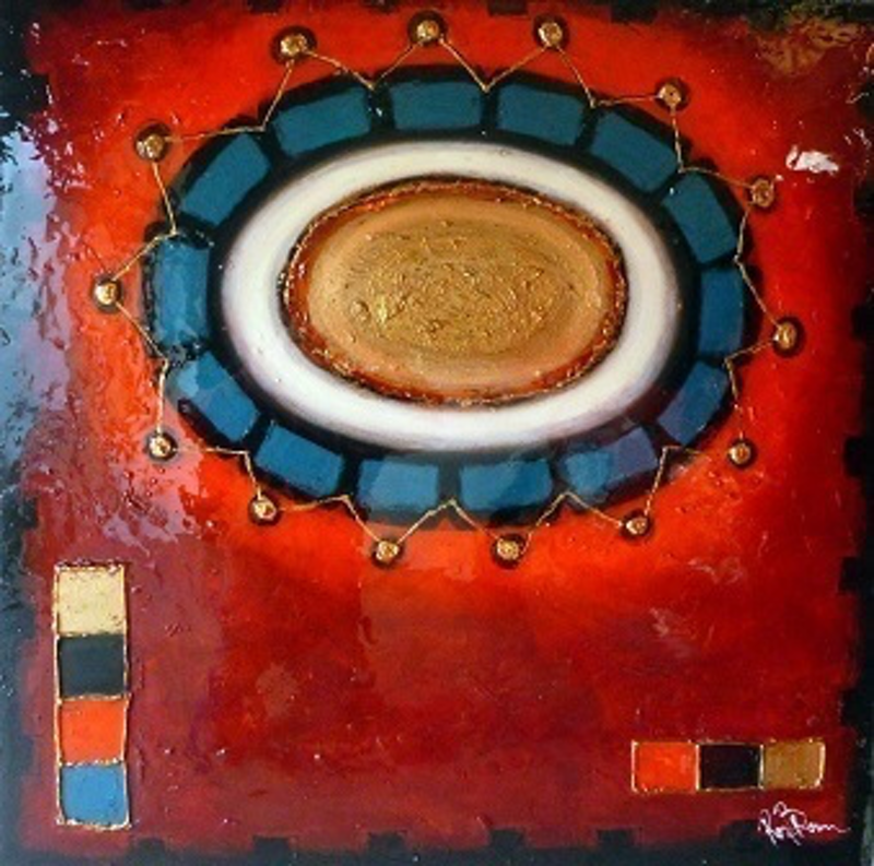 (CreativeWork) Aztec  by Ron Brown. mixed-media. Shop online at Bluethumb.