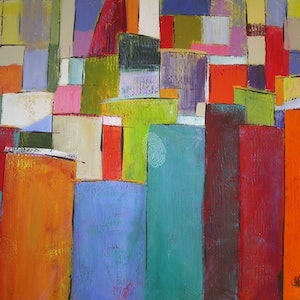 (CreativeWork) Colour Block 7 by Chris Hobel. arcylic-painting. Shop online at Bluethumb.