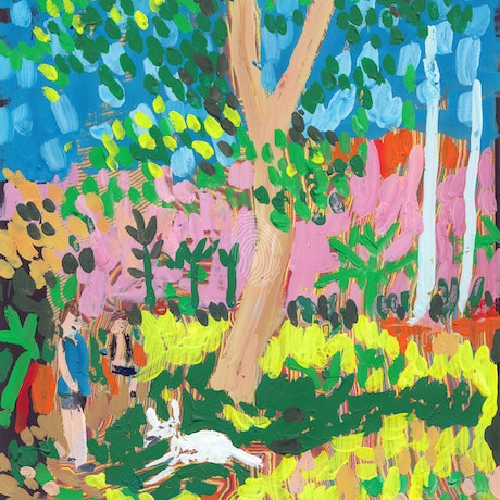 (CreativeWork) Dog Day in the Park by John Douglas. Other Media. Shop online at Bluethumb.