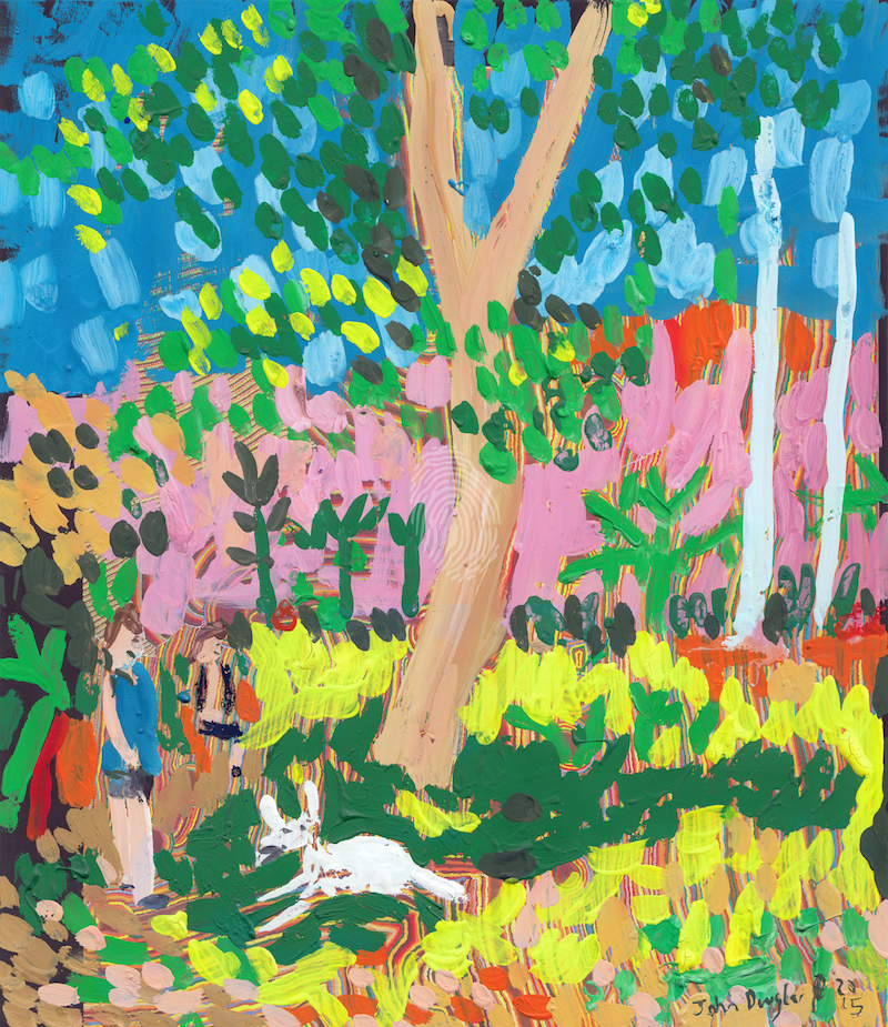(CreativeWork) Dog Day in the Park by John Douglas. other-media. Shop online at Bluethumb.