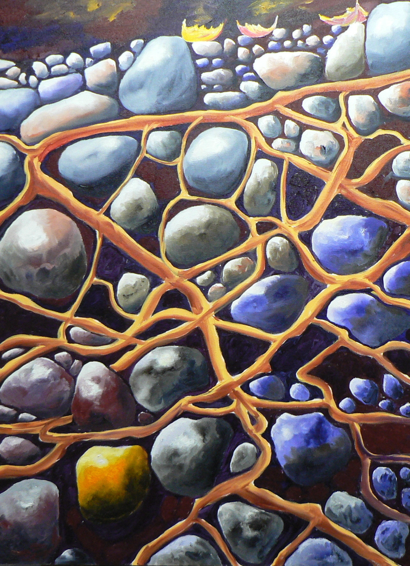 (CreativeWork) Rock of Ages by ZAIDE BELINI. oil-painting. Shop online at Bluethumb.