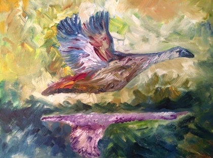 (CreativeWork) Freedom by Faiza Hassan. oil-painting. Shop online at Bluethumb.