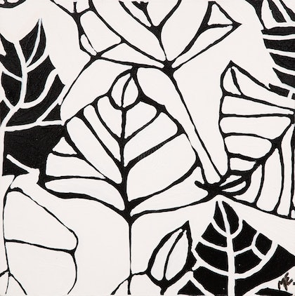 (CreativeWork) Leaves by Maree Wilkinson. arcylic-painting. Shop online at Bluethumb.