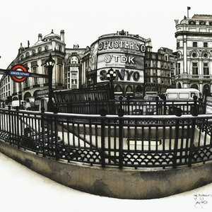 (CreativeWork) The Picadilly Line by John Procter. other-media. Shop online at Bluethumb.