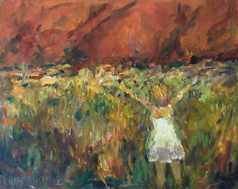 (CreativeWork) SUPPLICATION TO ULURU by Robert Abrahams. oil-painting. Shop online at Bluethumb.