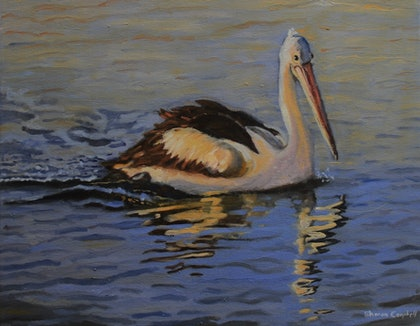 (CreativeWork) Tranquility by Sharon Campbell. oil-painting. Shop online at Bluethumb.
