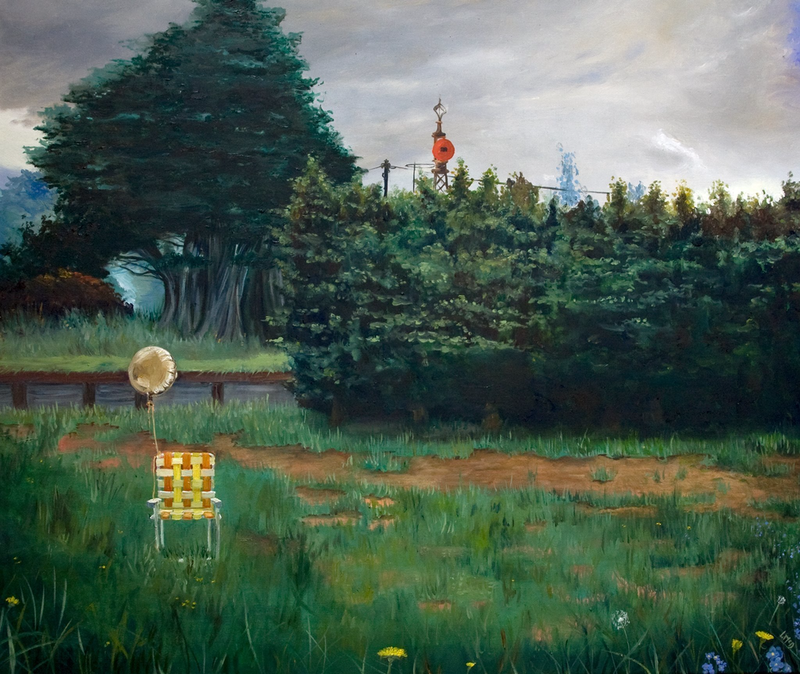 (CreativeWork) Left Behind by Llael McDonald. oil-painting. Shop online at Bluethumb.