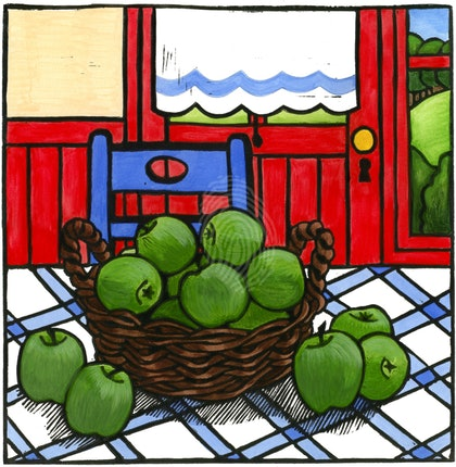 """(CreativeWork) """"Apples"""" number 13 of 30 by Lyn Randall. print. Shop online at Bluethumb."""
