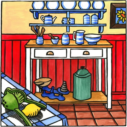 """(CreativeWork) """"Dresser"""" number 12 of 30 by Lyn Randall. print. Shop online at Bluethumb."""