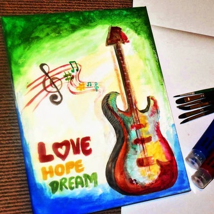 (CreativeWork)  Music by Harshada Chougule. watercolour. Shop online at Bluethumb.