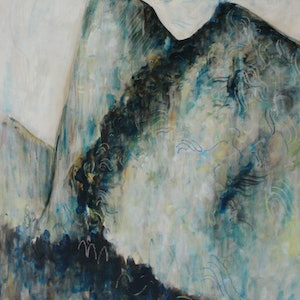 (CreativeWork) Sacred Mountains  by Alexander Carletti. oil-painting. Shop online at Bluethumb.