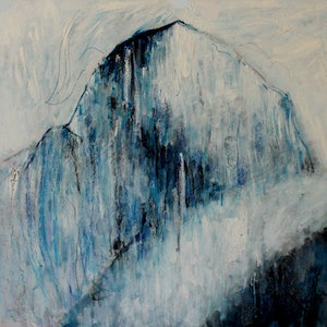 (CreativeWork) Holy Mountain by Alexander Carletti. oil-painting. Shop online at Bluethumb.