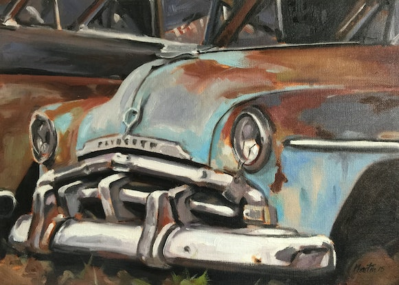 (CreativeWork) Old Plymouth by Chris Martin. Oil Paint. Shop online at Bluethumb.