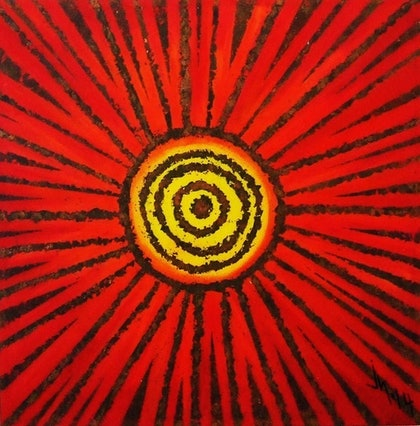 (CreativeWork) sol andaluz by Jose Herrera. arcylic-painting. Shop online at Bluethumb.