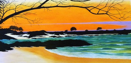 (CreativeWork) Brunswick Inlet by Rick Lowe. arcylic-painting. Shop online at Bluethumb.