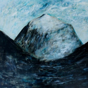(CreativeWork) Mount Kailash by Alexander Carletti. oil-painting. Shop online at Bluethumb.