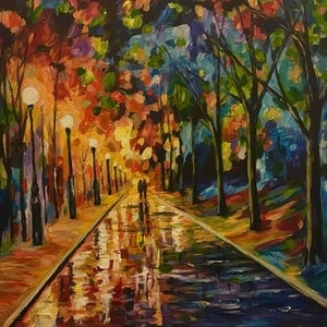 (CreativeWork) The Night by Tony Wu. arcylic-painting. Shop online at Bluethumb.