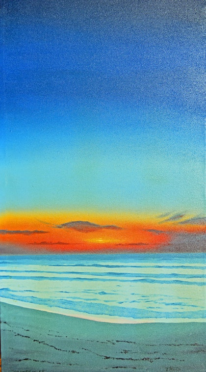 (CreativeWork) Dawn by Terence Mead. arcylic-painting. Shop online at Bluethumb.