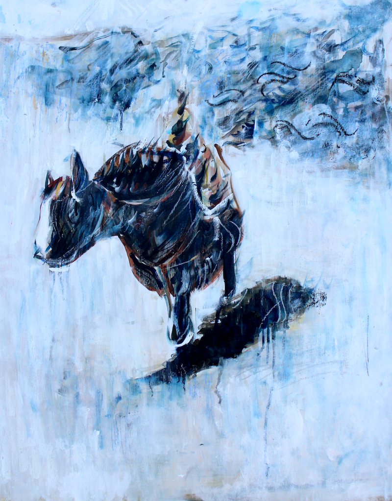 (CreativeWork) Pilgrimage by Alexander Carletti. oil-painting. Shop online at Bluethumb.