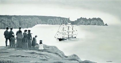 "(CreativeWork) Shipwreck ""Granite State"" by Terence Mead. arcylic-painting. Shop online at Bluethumb."