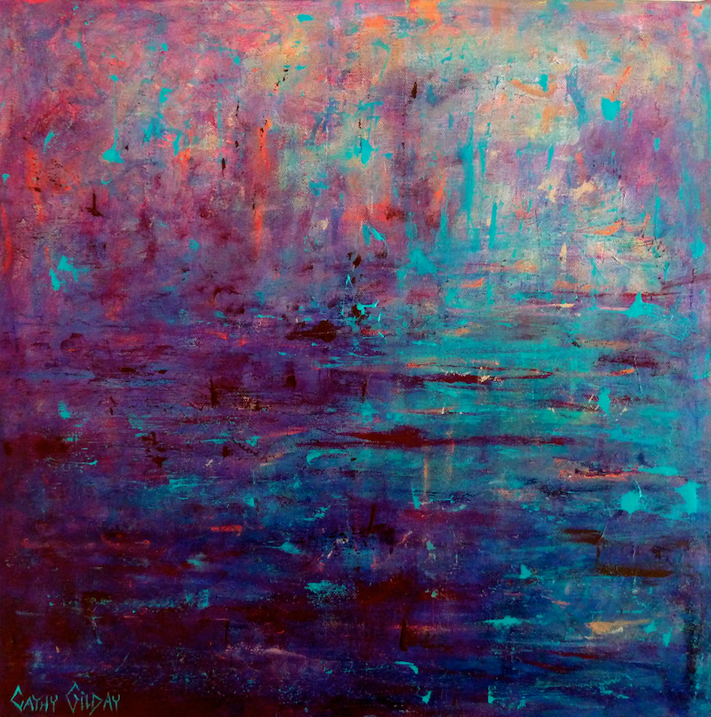 (CreativeWork) Moment in Time by Cathy Gilday. Acrylic Paint. Shop online at Bluethumb.