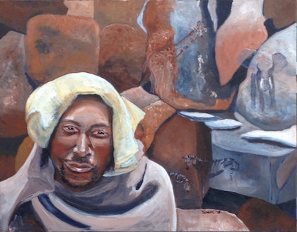 (CreativeWork) African Dreaming by Susan Chacksfield. arcylic-painting. Shop online at Bluethumb.