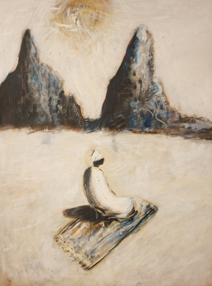 (CreativeWork) Sufi in Contemplation by Alexander Carletti. oil-painting. Shop online at Bluethumb.
