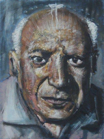 (CreativeWork) Picasso  by Alexander Carletti. oil-painting. Shop online at Bluethumb.