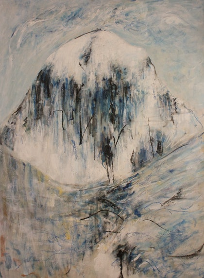 (CreativeWork) Mt Kailash  by Alexander Carletti. oil-painting. Shop online at Bluethumb.