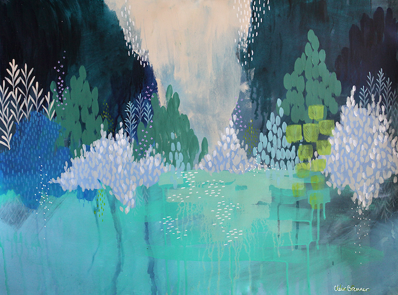 (CreativeWork) On The Lake by Clair Bremner. arcylic-painting. Shop online at Bluethumb.