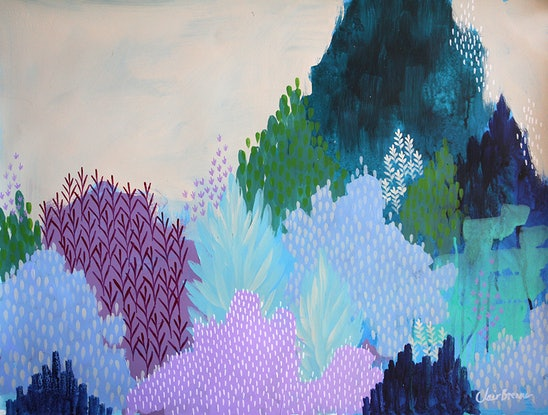 (CreativeWork) The Old Hill  by Clair Bremner. Acrylic Paint. Shop online at Bluethumb.