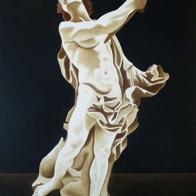 "(CreativeWork) ""Death of the renaissance"" by David Rellim. oil-painting. Shop online at Bluethumb."