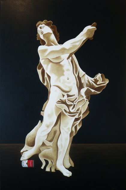 """(CreativeWork) """"Death of the renaissance"""" by David Rellim. oil-painting. Shop online at Bluethumb."""