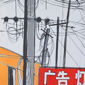 (CreativeWork) My Village Poles by Yianni Johns. Oil Paint. Shop online at Bluethumb.