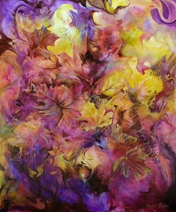 (CreativeWork) Autumn Whispers by Cathy Gilday. Acrylic Paint. Shop online at Bluethumb.