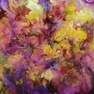(CreativeWork) Autumn Whispers by Cathy Gilday. acrylic-painting. Shop online at Bluethumb.