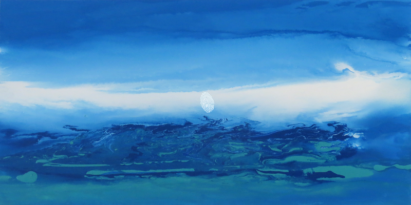 (CreativeWork) Blue Tempest by Susanne Tester. arcylic-painting. Shop online at Bluethumb.