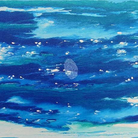 (CreativeWork) Playful Pacific by Susanne Tester. Acrylic Paint. Shop online at Bluethumb.