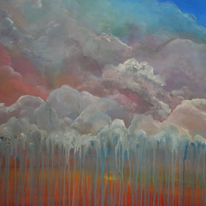 (CreativeWork) RAIN OUTBACK       by Liza Black. arcylic-painting. Shop online at Bluethumb.