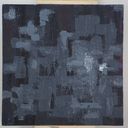 (CreativeWork) Dark Light by Elric Ringstad. arcylic-painting. Shop online at Bluethumb.