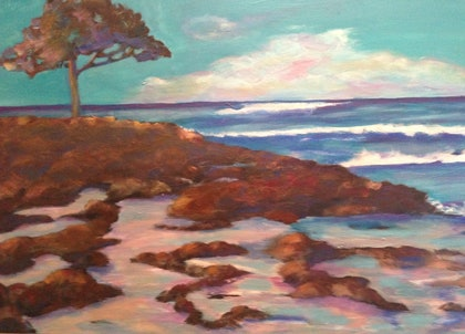 (CreativeWork) Bunker Bay 1 by jane cunningham. oil-painting. Shop online at Bluethumb.