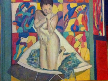 (CreativeWork) Angie nude 1 by jane cunningham. oil-painting. Shop online at Bluethumb.