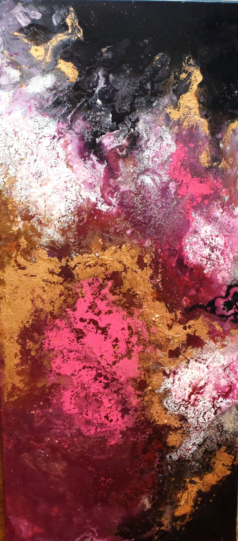 Gold Maroon Abstract By Jessica Seroka Paintings For Sale