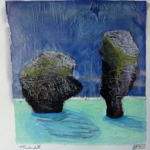 (CreativeWork) Thailand Rocks II by Nicole Phillips. mixed-media. Shop online at Bluethumb.