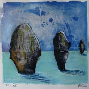 (CreativeWork) Thailand Rocks III by Nicole Phillips. mixed-media. Shop online at Bluethumb.