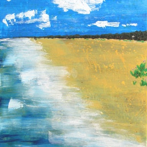 (CreativeWork) The Beach Walk - Acrylic on Canvas - 2015 by Jazmin Wilkins. arcylic-painting. Shop online at Bluethumb.